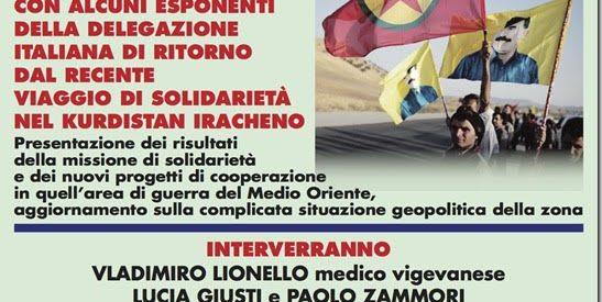 """VIGEVANO: CONFERENZA-DIBATTITO """"DI RITORNO DAL KURDISTAN"""""""