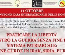 Convegno: Praticare la libertà contro la guerra senza fine del sistema patriarcale: DONNE CURDE IN IRAK, SIRIA, EUROPA