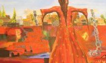 """Dipinti espressionisti di donne nella mostra """"Il lutto viene da lontano"""""""