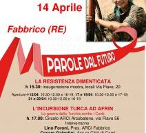 Fabbrico: Incorsione turco ad Afrin, il 14 aprile