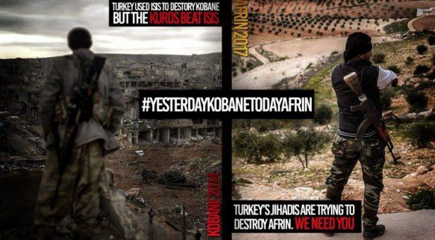 Fermare la guerra della Turchia contro i curdi #DifendereAfrin  #DefendAfrin