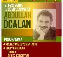 Roma -Centro Ararat festeggia il compleanno di Ocalan , 4 aprile