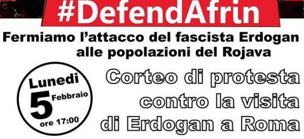 Bari, Fermiamo l'aggressione del fascista Erdogan alle popolazioni del Rojava