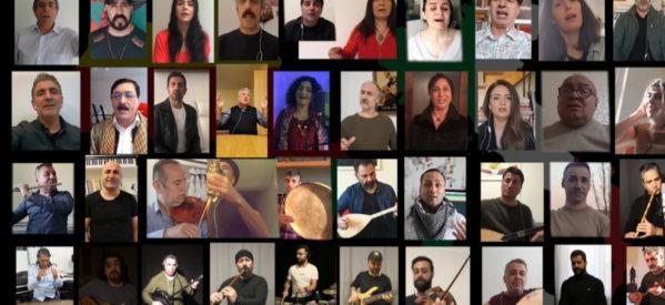 """Musicisti curdi cantano """"Bella Ciao"""" per l'Italia"""