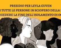 Bologna, Presidio di solidarietà allo sciopero della fame di Leyla Guven 2 Febbraio