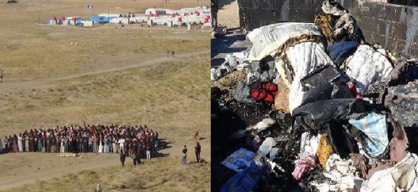 Incendio all'accampamento di Roj: un bambino perde la vita