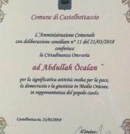  Cittadinanza onoraria a Abdullah Ocalan
