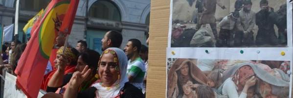 Kurdi a Roma per Kobané e l'Umanità