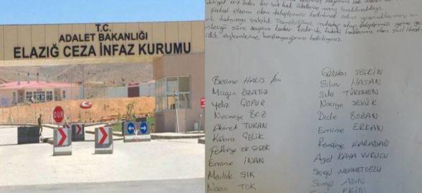Le prigioniere di Elaziğ attueranno una protesta per le condizioni del carcere
