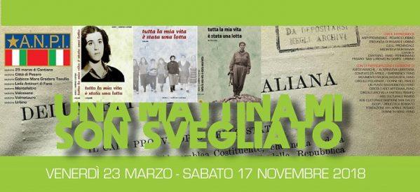 Pesaro, Fano e Pergula, Presentazione del 'Tutta la mia vita è stata una lotta', 19-20 aprile