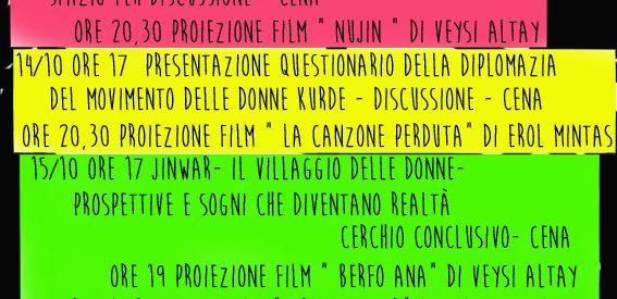 Bologna, Festival sulla rivoluzione delle donne kurde, il13-14-15 Ottobre