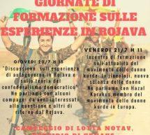 Torino Campeggio Notav- Giornate formazione sul esperienza in Rojava 21 luglio