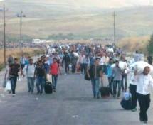 Gli immigrati di Rojava fanno ritornano a casa