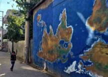 Un graffito dai bambini di Cizira Botan