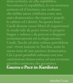 Pubblicato opuscolo Guerra e pace in Kurdistan di Abdullah Ocalan