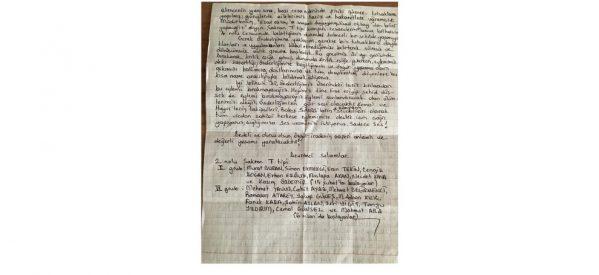 Lettera delle prigioniere e dei prigionieri in sciopero della fame nel carcere di Şakran