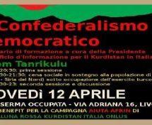 Livorno, Seminario sul Confederalismo Democratico, 12 aprile