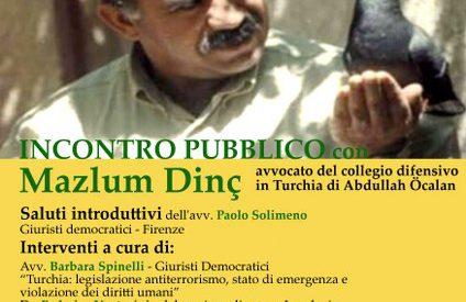 Firenze – Incontro con avvocati del colleggio difensivo di Abdullah Ocalan il 1 ottobre ore 16.00