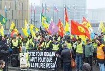 """Invito alla Lunga Marcia""""Libertà per Öcalan – Difendere la rivoluzione in Kurdistan"""" da Lussemburgo a Strasburgo dall' 8 al 17 febbraio 2018"""