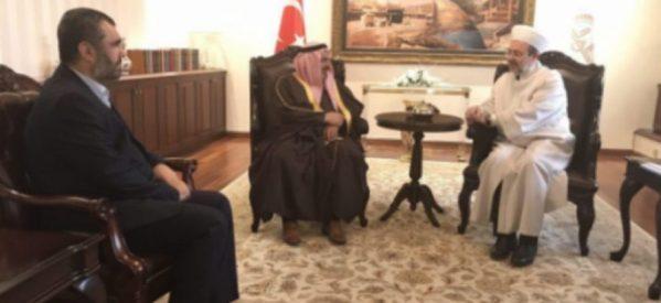 Il direttore degli affari religiosi turchi si riunisce con il finanziatore di Al-Qaeda