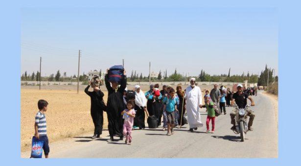I combattenti dell' MMC aprono un corridoio per il soccorso dei civili nel centro di Minbic