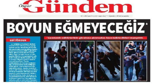 Özgür Gündem: Noi non ci pieghiamo !