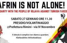 Rimini, #DefenAfrin – Presidio contro l'aggressione militare turca in Rojava