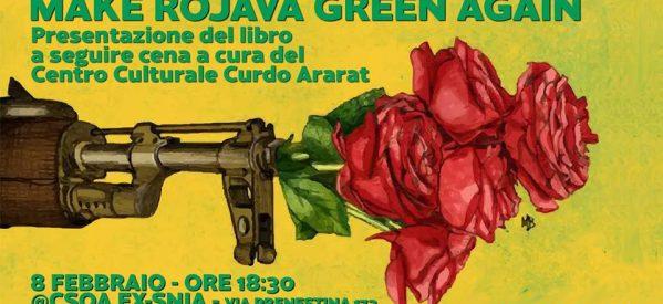 Roma,presentazione libro 'Make Rojava Green Again' & cena curda, 8 febbraio