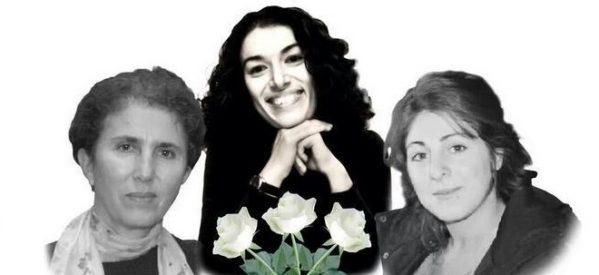 9 gennaio: Sakine, Fidan Leyla. Tre donne, tre generazioni, 3 pacifiste, assassinate a Parigi, l'impunità non deve trionfare! -Roma