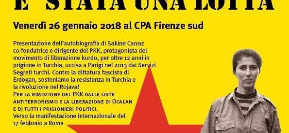 Firenze, Serata per il Kurdistan in lotta, 26 gennaio