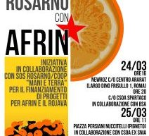 SOS Rosarno con Afrin 24-25-26 marzo a Roma