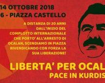Torino, Presidio Libertà per Ocalan-Pace in Kurdistan! 14 ottobre