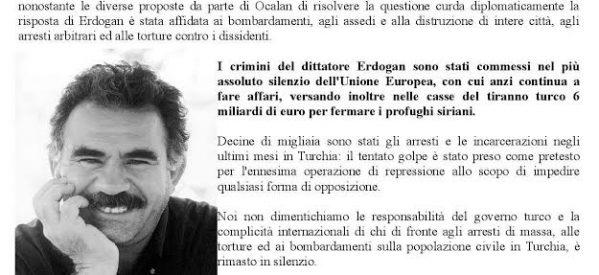 Bolzano- Manifestazione epr la Libertà di Ocalan, 18 novembre