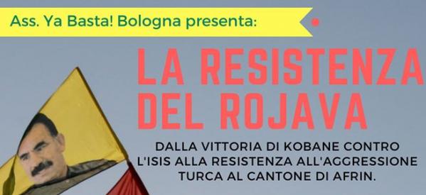Bologna, La resistenza del Rojava: da Kobane ad Afrin